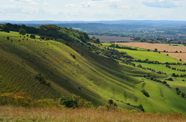 View southwest from Bratton Camp, Wiltshire