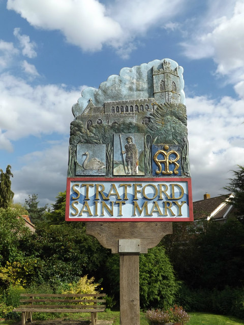 Stratford St.Mary Village sign