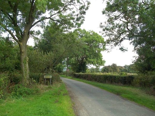 Village Entrance Sign on Rodsley Lane
