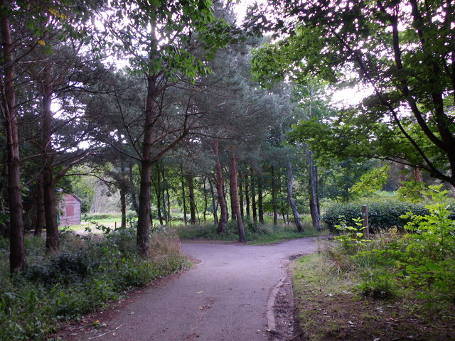 A paths junction in Banchory