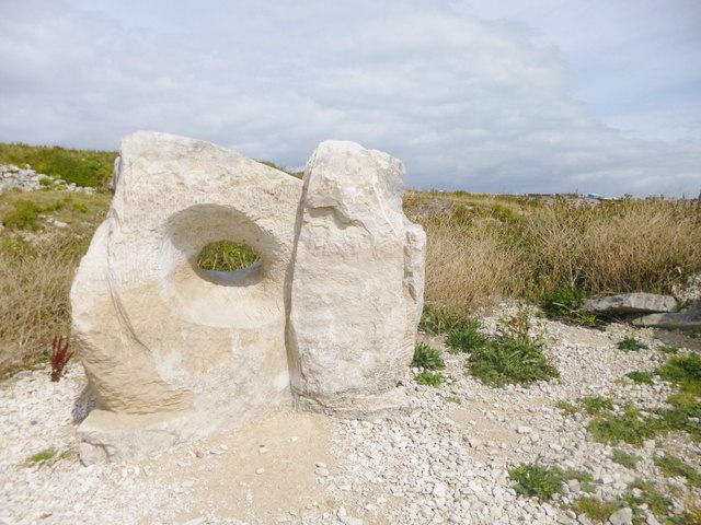 Tout Quarry, stone with hole
