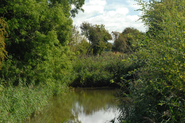 Course of the Stroudwater Canal at Upper Framilode