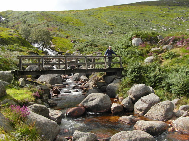 Footbridge across Garbh Allt, in Glen Rosa