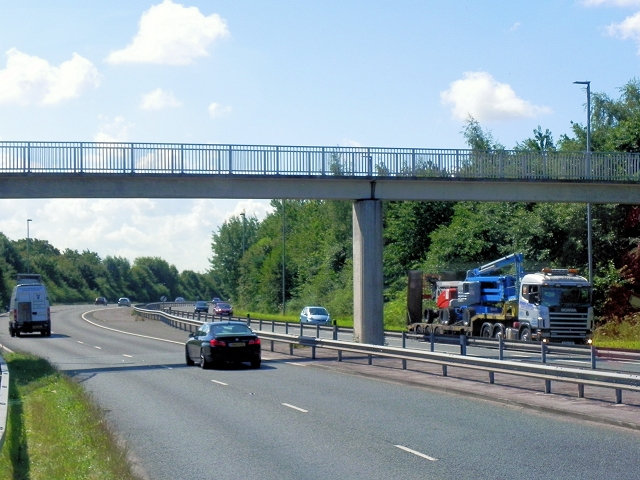 Footbridge over the Wilmslow-Handforth Bypass at Handforth Dean