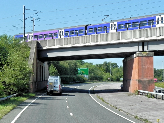 Railway Crossing the Wilmslow Handforth Bypass