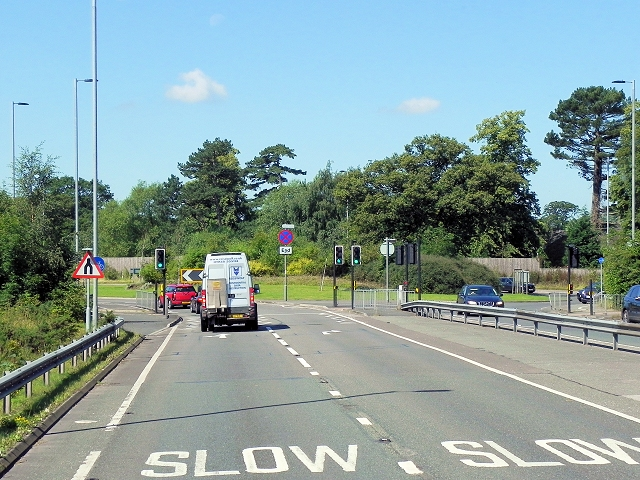 A34, Wilmslow-Handforth Bypass approaching Whitehall Bridge Roundabout