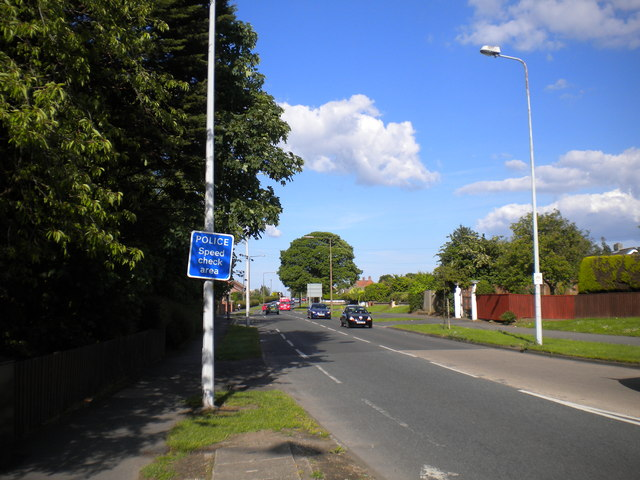 West end of North Sea Lane, Humberston