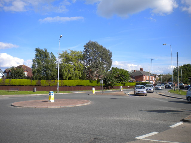 Roundabout at north end of Church Avenue, Humberston