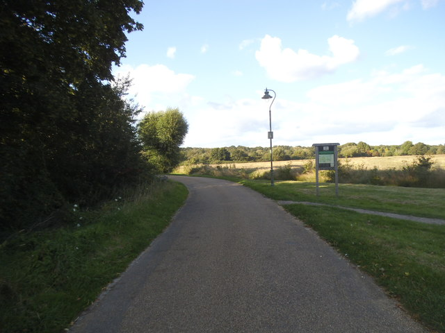 The entrance to Ashtead Common