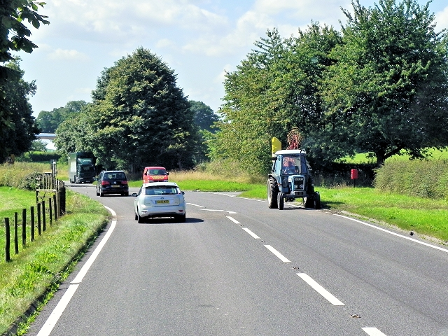 Tractor on Congleton Road (A34)