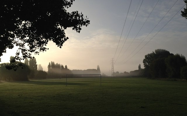 Misty morning on Manor Farm Park