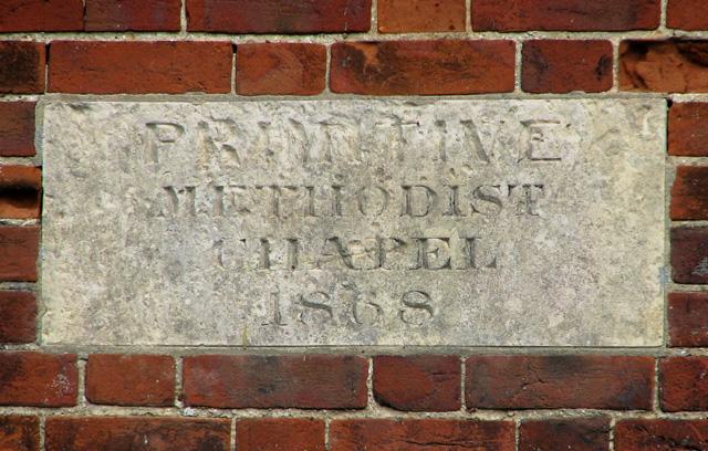 Converted Primitive Methodist Chapel in Chapel Road (plaque)