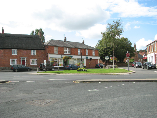 View across the junction of The Street, Mill Lane, Old Road and New Road