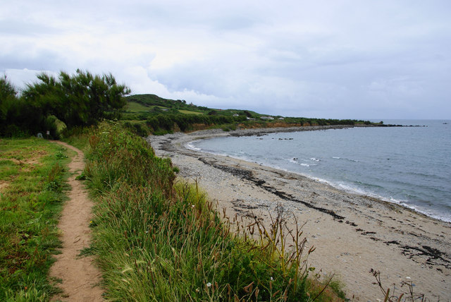 South West Coast Path near Trenow Cove