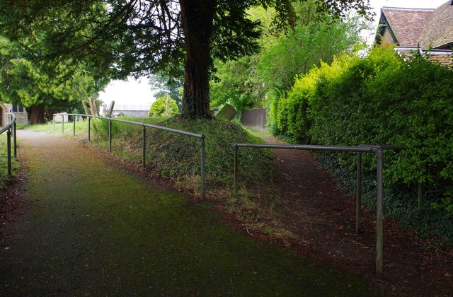 Two paths off Church Street, Little Horwood, Bucks