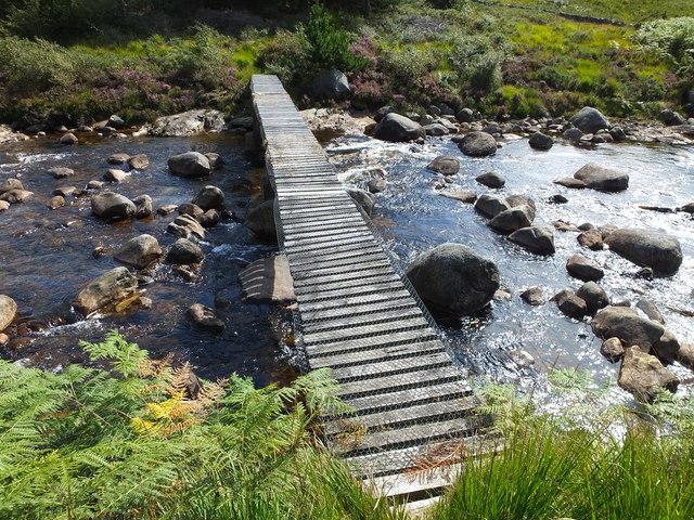 """Fisherman's bridge"" across Iorsa Water"