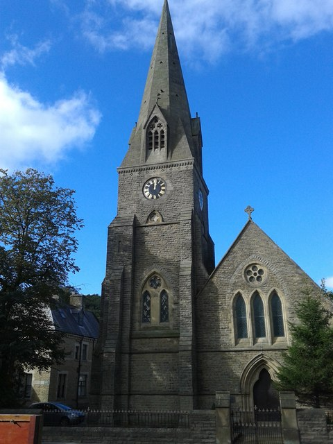 The former church of St James at Waterfoot
