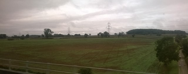 Country south-west of Burton-le-Coggles, from the train