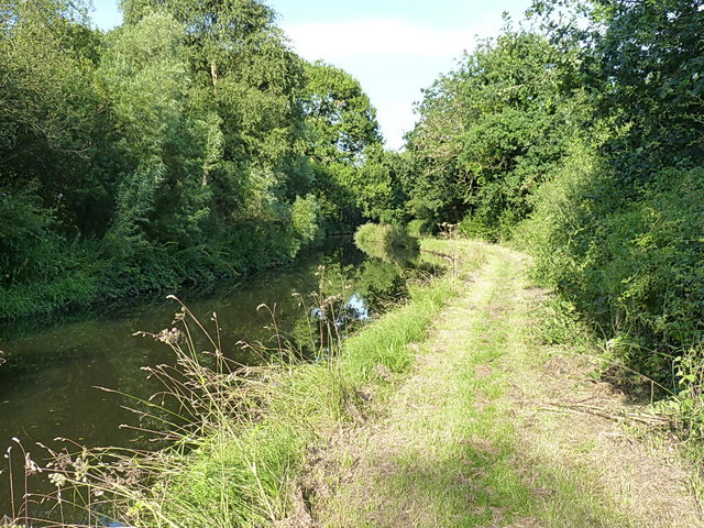 Towpath of the Staffs & Worcs canal