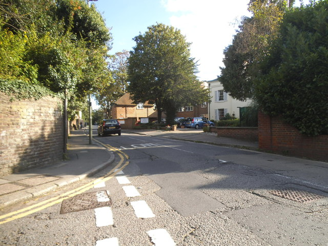 Church Street at the junction of Grove Road, Epsom