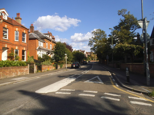 Burgh Heath Road at the junction of Church Street