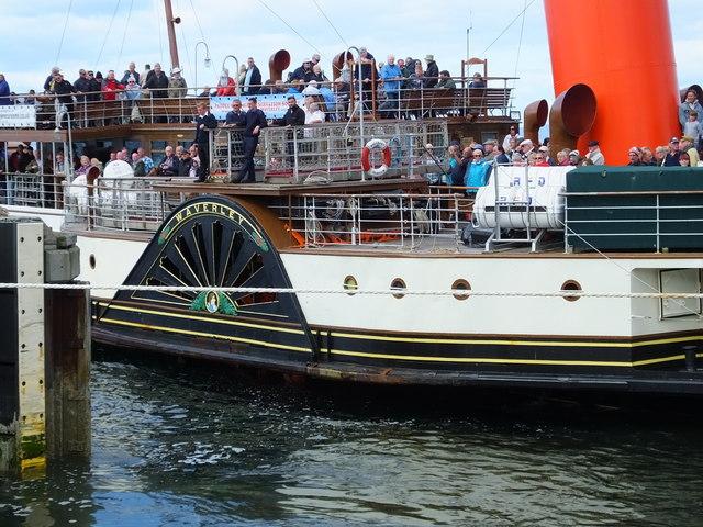 PS Waverley docking at Lochranza