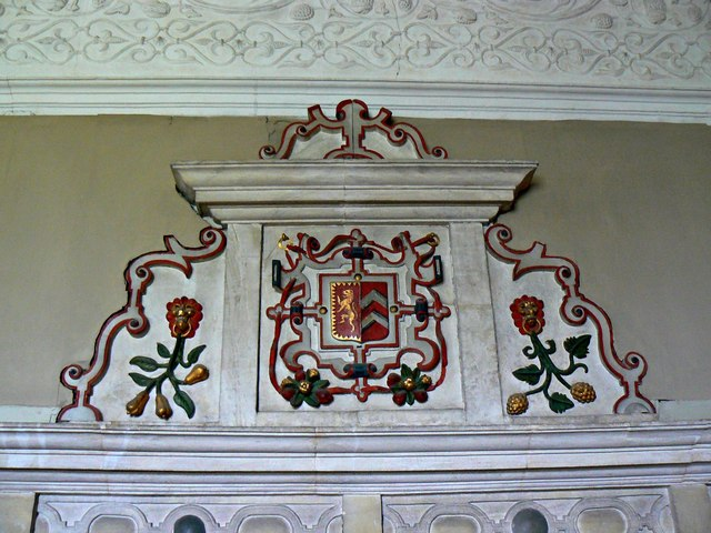 Overmantel, the Middle Chamber, Chastleton House, Chastleton, Oxfordshire