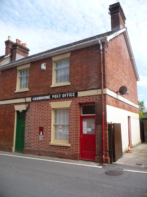 Cranborne: the post office frontage has changed