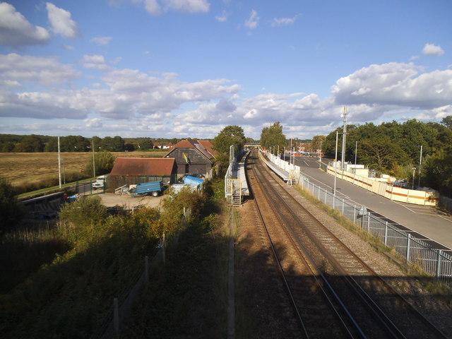 Ashtead station from the footbridge