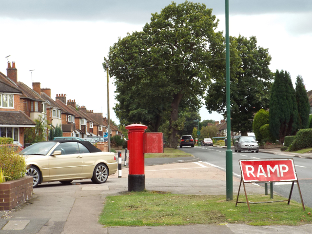 Damson Road near the junction with Coppice Road, Elmdon Heath