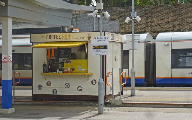 Platform coffee stand, Highbury and Islington Station