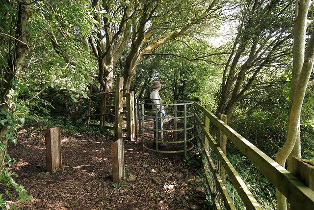 Gate leading to M5 footbridge