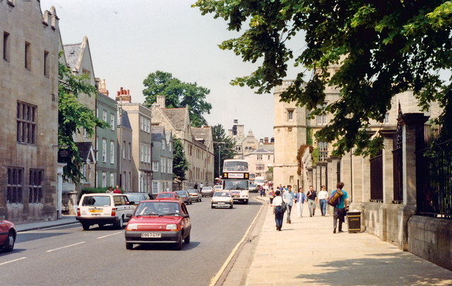 Oxford: northward on St Aldate's by Christ Church, 1992