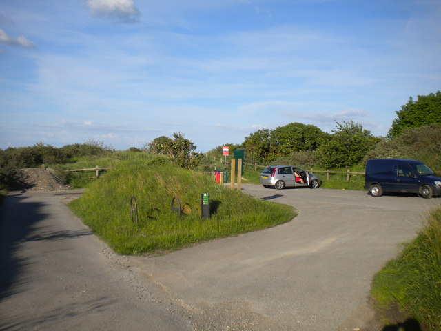 Sea View car park near Saltfleetby