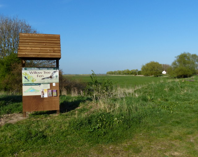 Information board at the Willow Tree Fen Nature Reserve