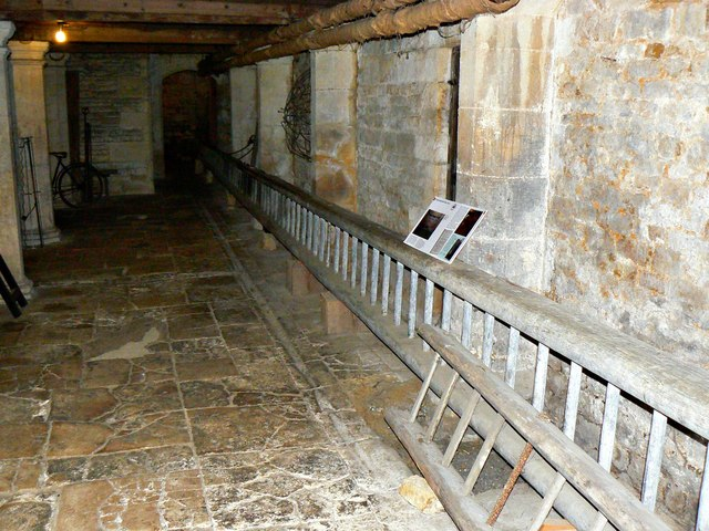 The beer cellar and its long ladder, Chastleton House, Chastleton, Oxfordshire