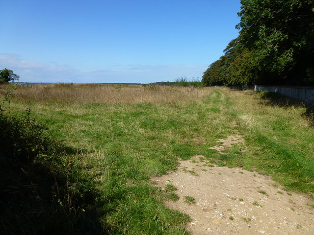 Farmland west of Holkham Park in Norfolk