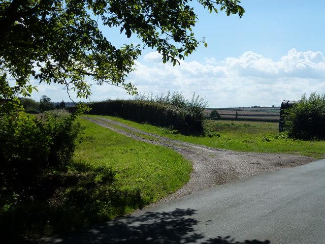 Farm track near Holkham Park, Norfolk