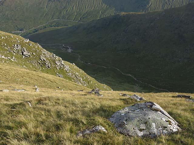 Steep slopes of Coire Chreachainn