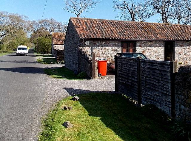 Roadside buildings, Manor Farm near Kenn