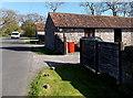 ST4268 : Roadside buildings, Manor Farm near Kenn by Jaggery