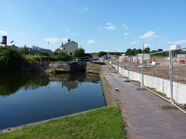 Redevelopment work underway near Ashted Locks