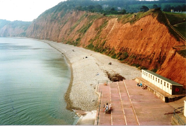 Beach on west side of Sidmouth
