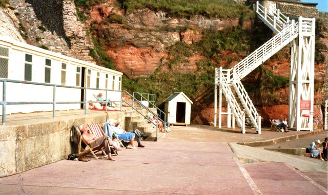 'Jacob's Ladder' on sea front at Sidmouth
