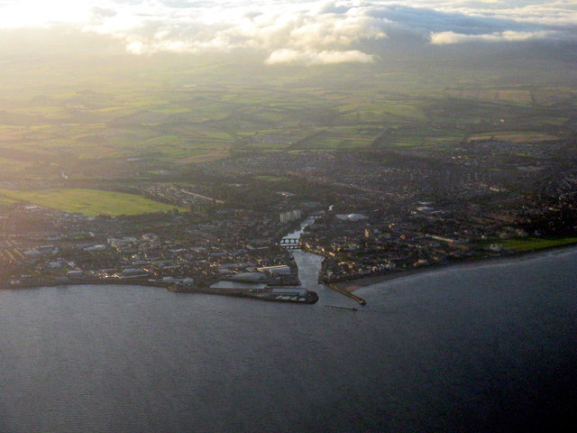 Ayr, divided by the River Ayr