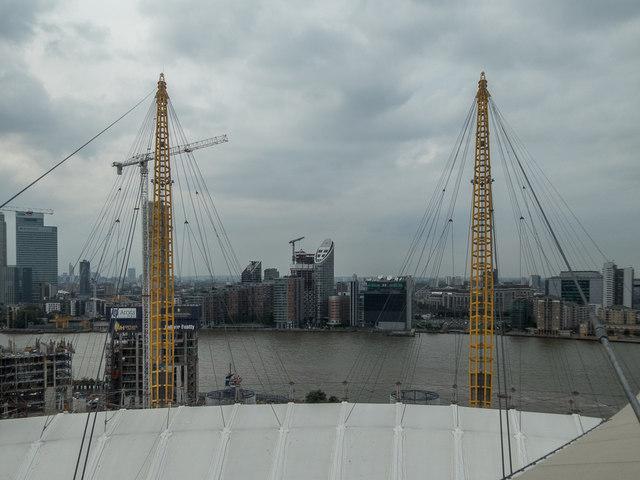 Up the O2 Viewing Platform, O2 Arena, Greenwich