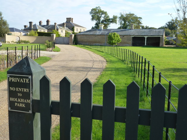 Private drive to Model Farm, Holkham Park