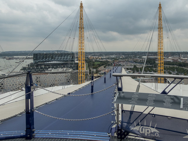 Up the O2 Viewing Platform, O2 Arena, Greenwich