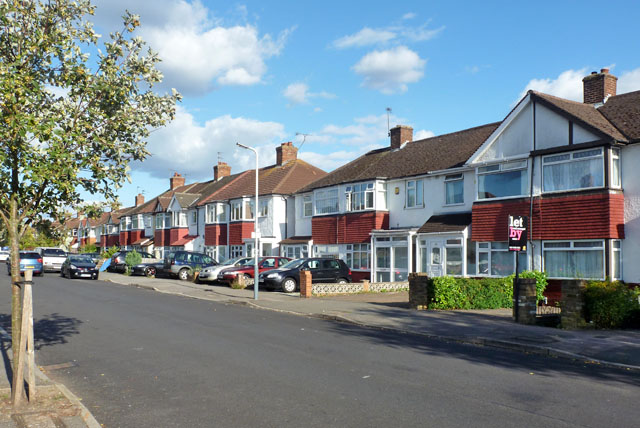 Houses on Bedford Road, Ruislip Gardens