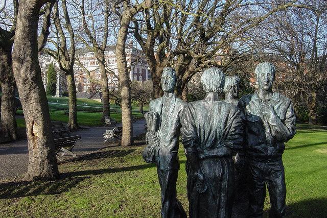 Sculpture near Bandstand in Nottingham Castle Grounds